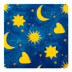 71 moons and stars blue